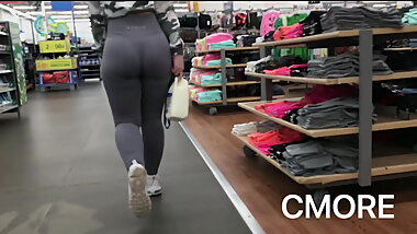 Tight Grey Spandex Booty - Teen whooty