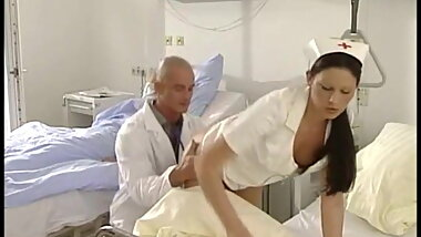Hot young nurse Frances fucked by the doctor